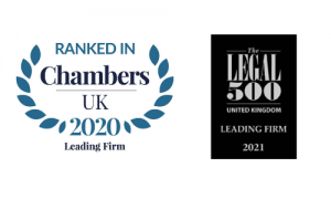 Legal 500 2021 Leading Firm Ranked in Chambers