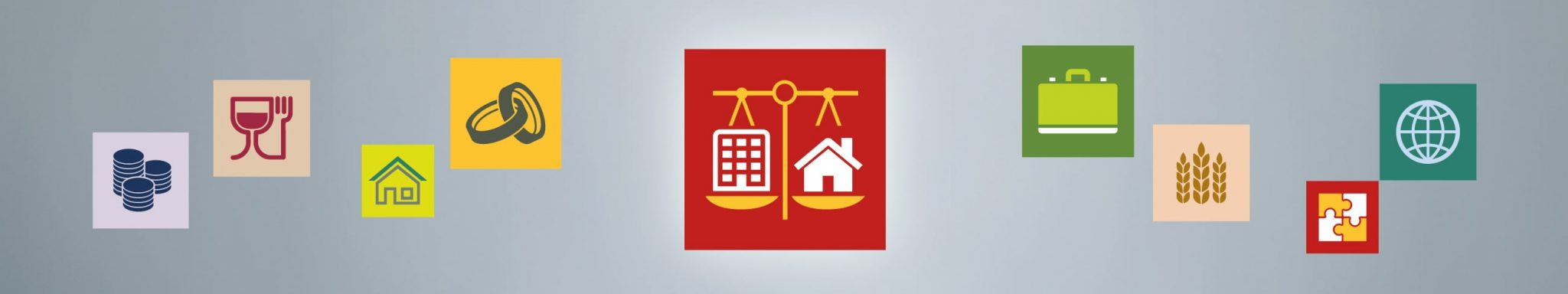 Property litigation icon banner