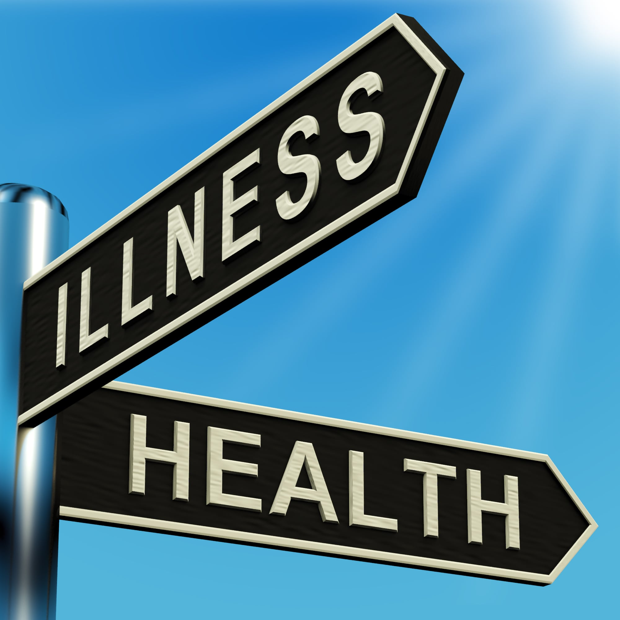 illness and health sign