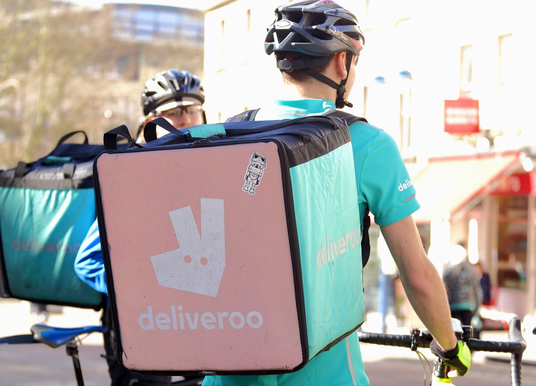 deliveroo riders on bikes
