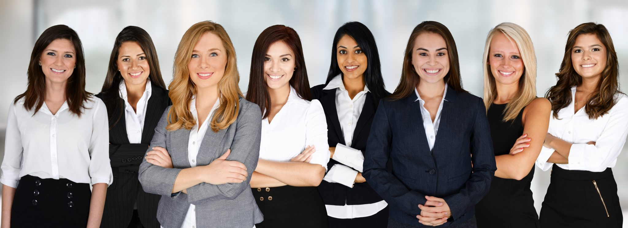 Encouraging women into franchising - women in business suits