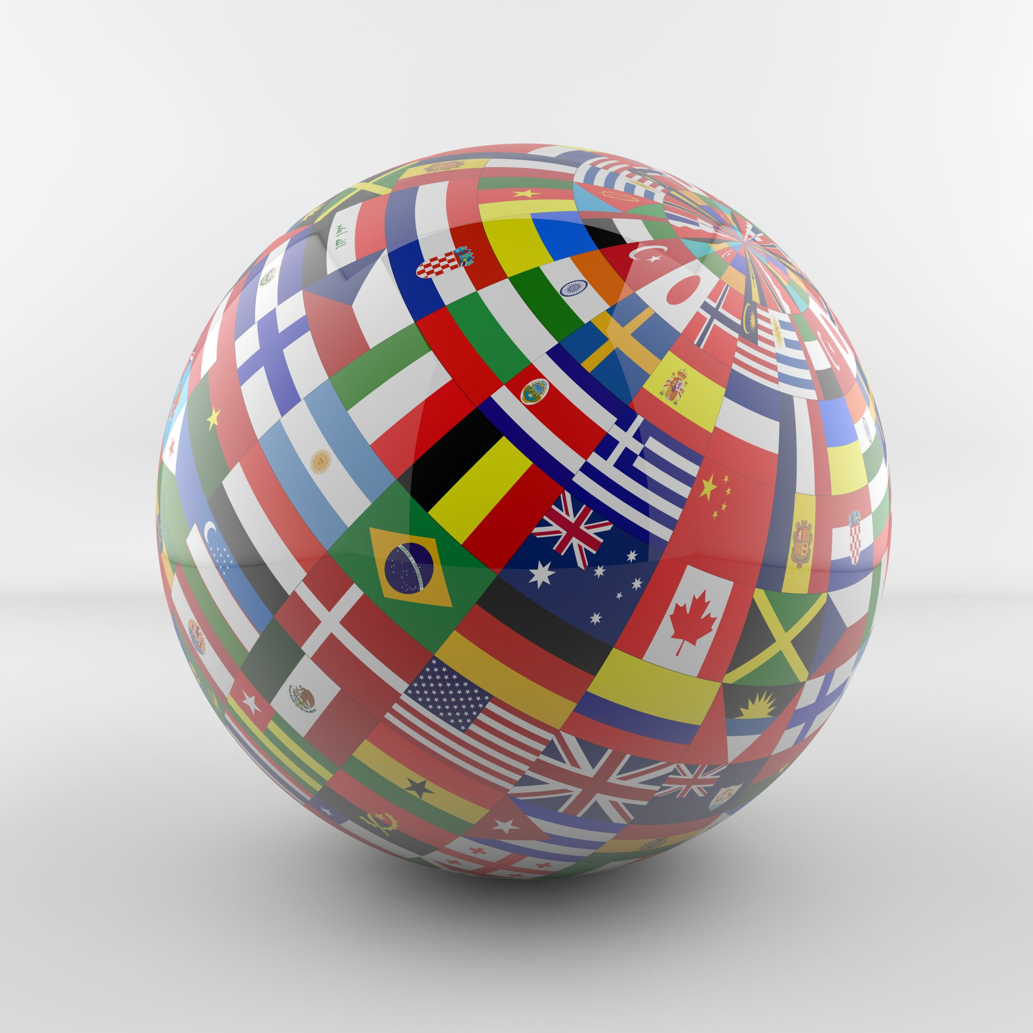 football with country flags on it