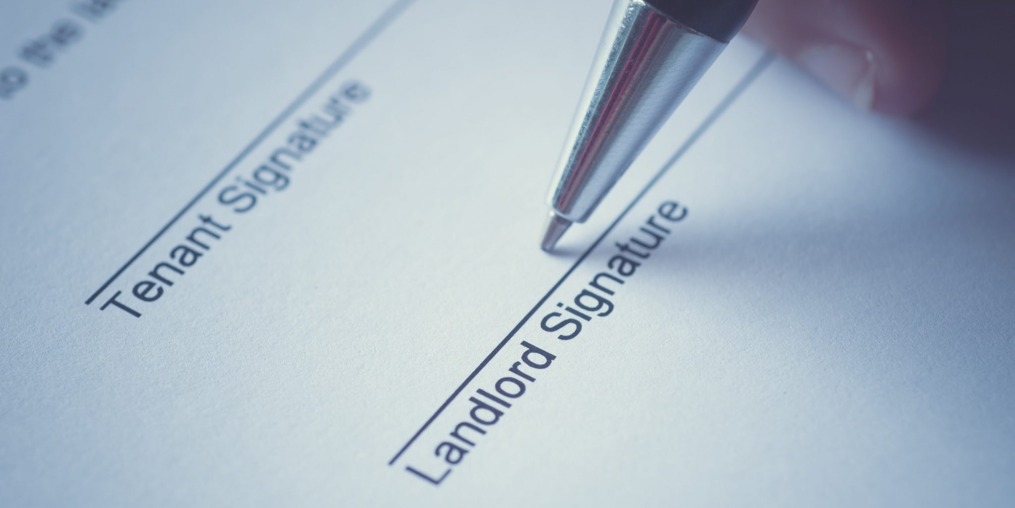 Landlord and Tenant Signature lines on form