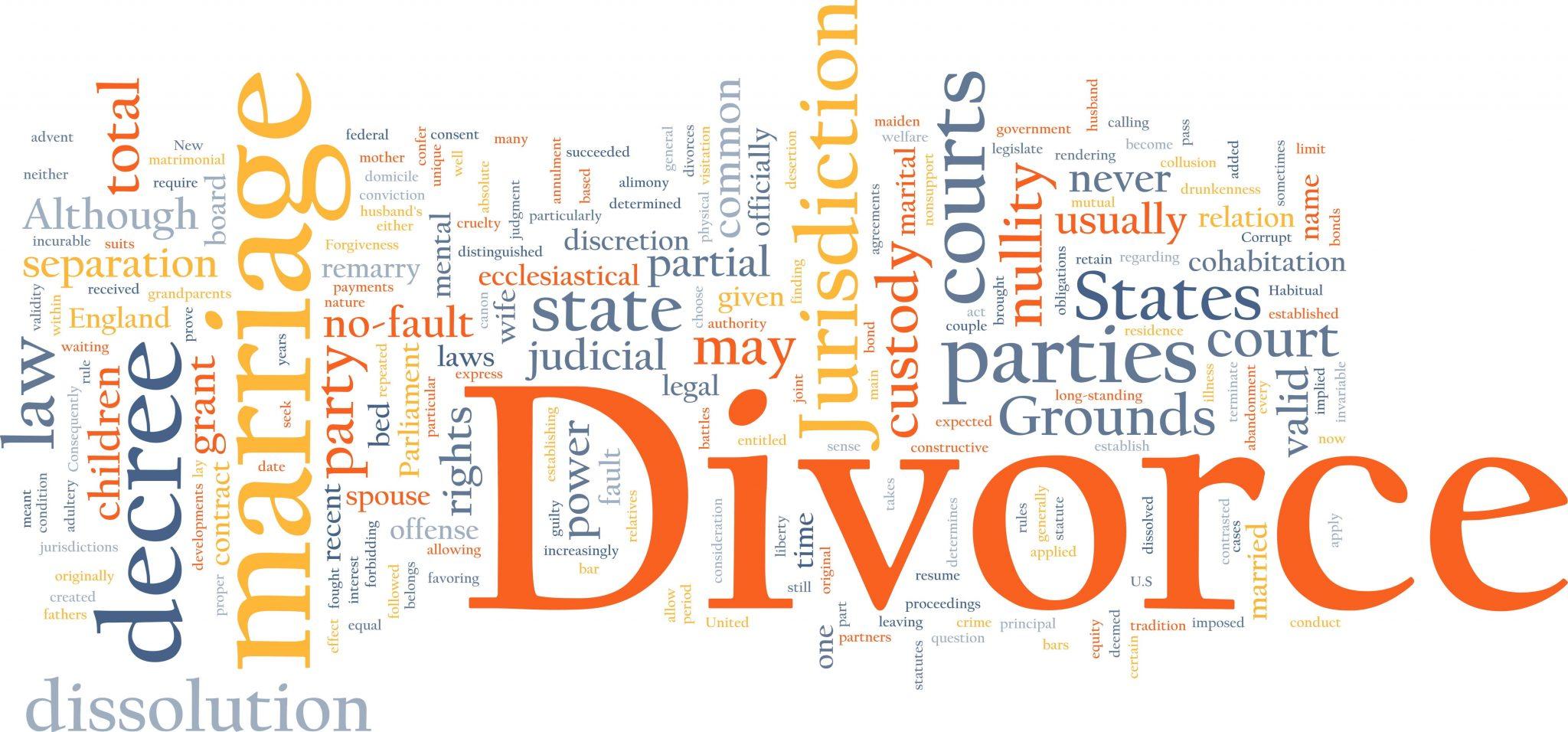 divorce words image