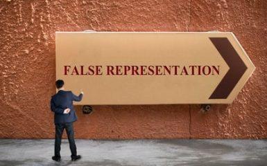 False representation image