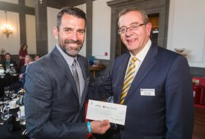 Francis Benali, Nick Vaughan and cheque picture