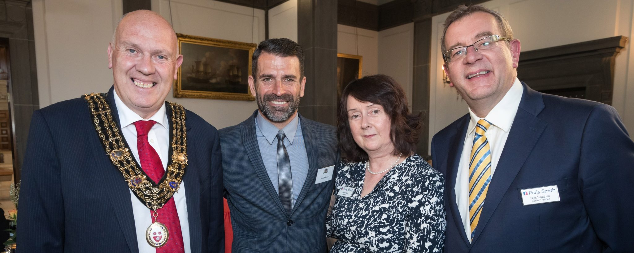 Francis Benali and key Southampton Charities join Paris Smith LLP for a special dinner in the Mayor's Parlour