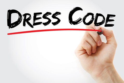 Dress code sign picture