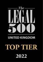 Legal 500 Top Tier 2022