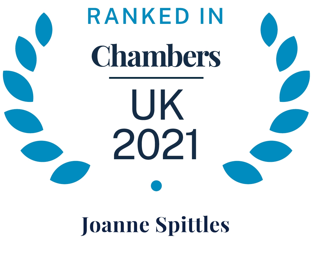 Chambers & Partners Top Ranked Joanne Spittles 2021