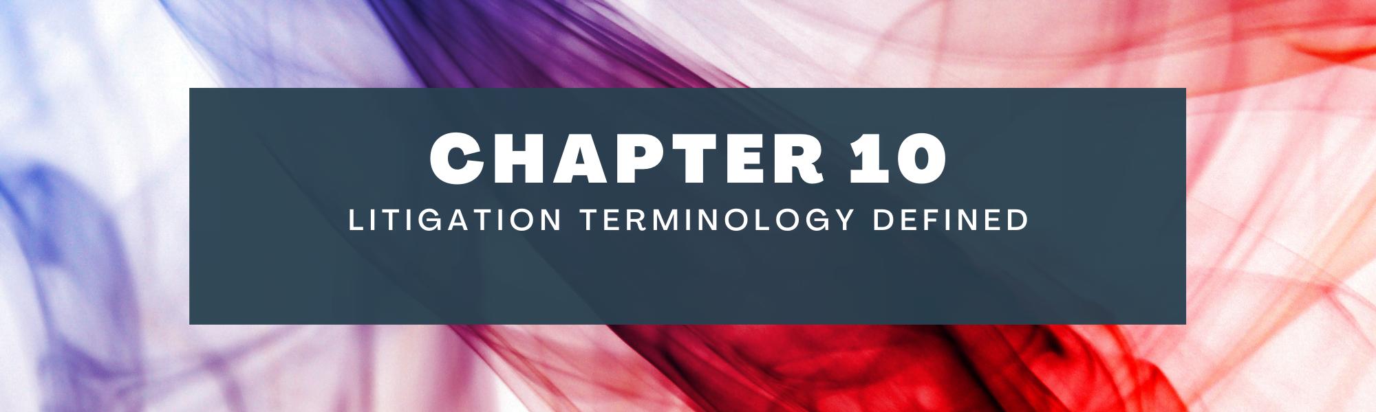 Litigation terminology