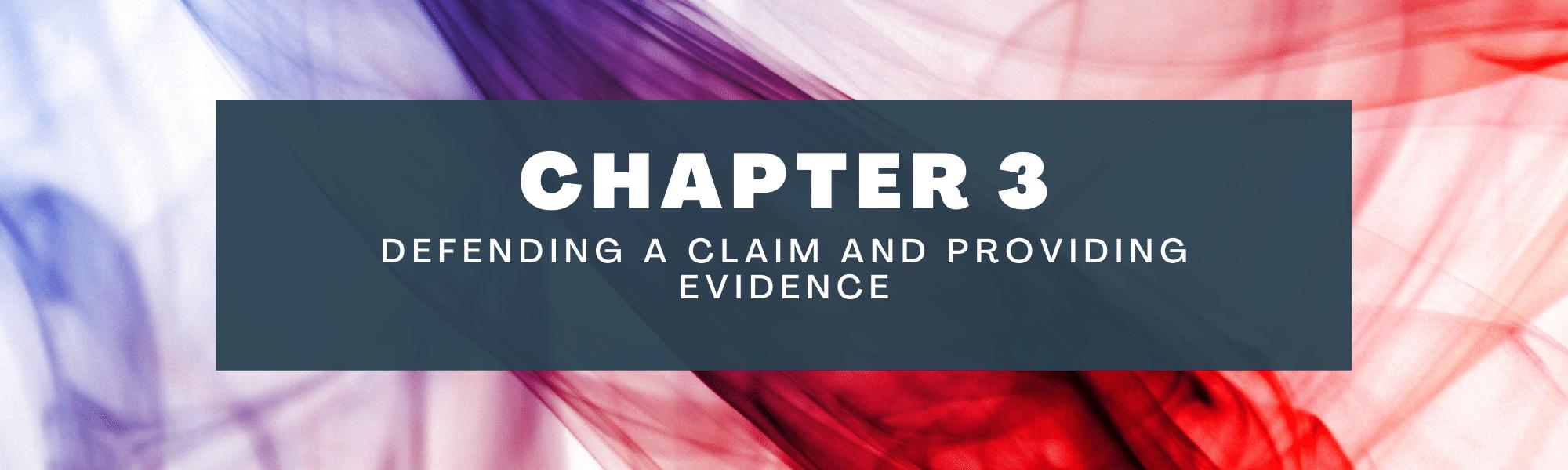 Defending a claim